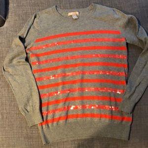 Banana Republic Stripe Sequin Sweater